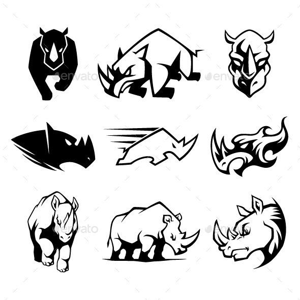Rhinoceros Symbol - Animals Characters