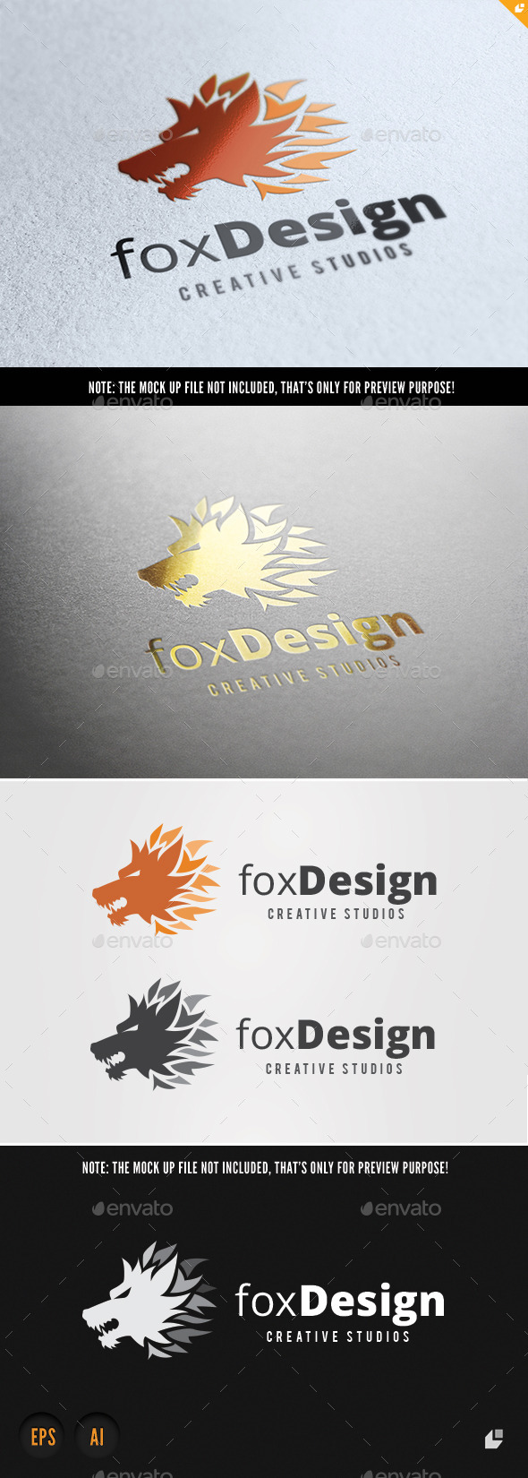 Fox Design Studios - Crests Logo Templates
