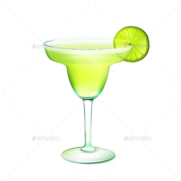Margarita Cocktail  - Food Objects