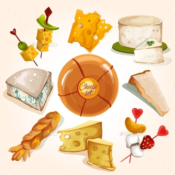 Cheese Sketch Collection - Food Objects