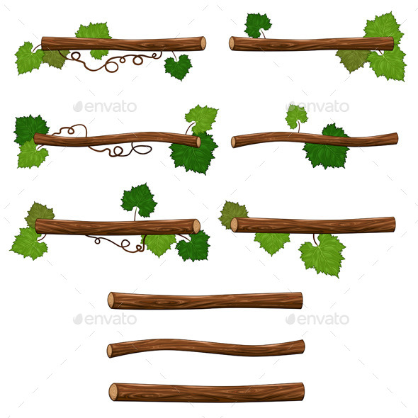 Set of Branches - Organic Objects Objects