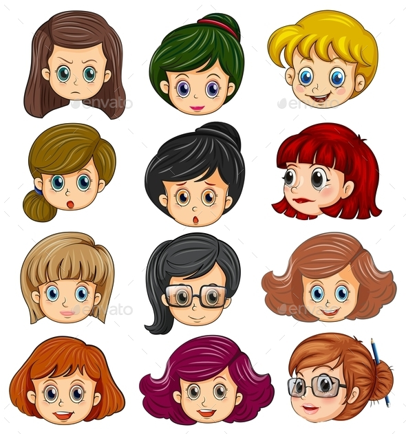 Women Faces - People Characters