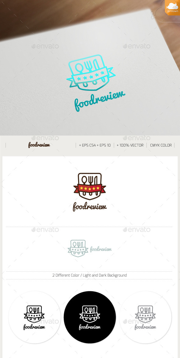 Food Review - Food Logo Templates