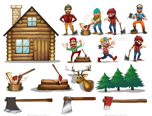Set of Lumber - People Characters