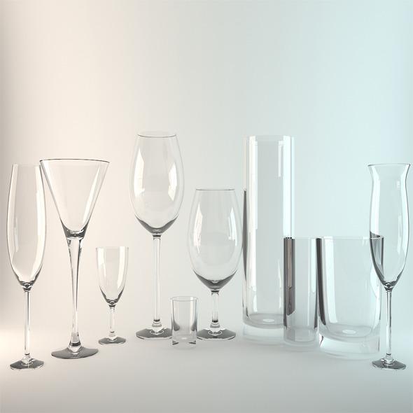 glasses - 3DOcean Item for Sale