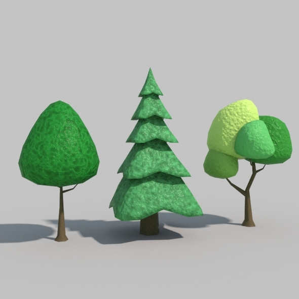 Low Poly Tree Vol01 - 3DOcean Item for Sale