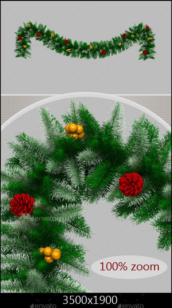 Christmas Branch - 3D Renders Graphics