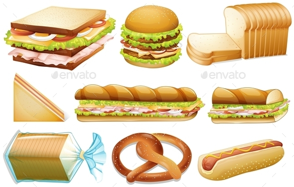 Bread Set - Food Objects
