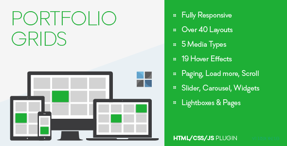 Portfolio Grids - HTML/CSS/JS - CodeCanyon Item for Sale