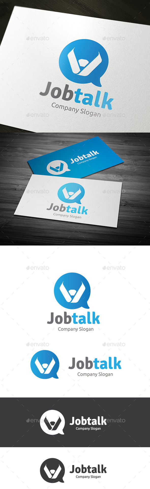 Job Talk - Humans Logo Templates
