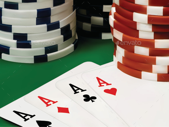 Poker Chips and Cards - Conceptual Vectors