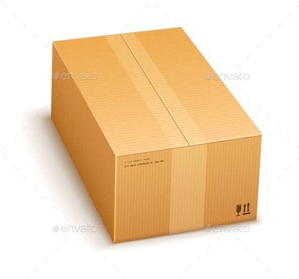 Cardboard Packing Box Closed  - Man-made Objects Objects