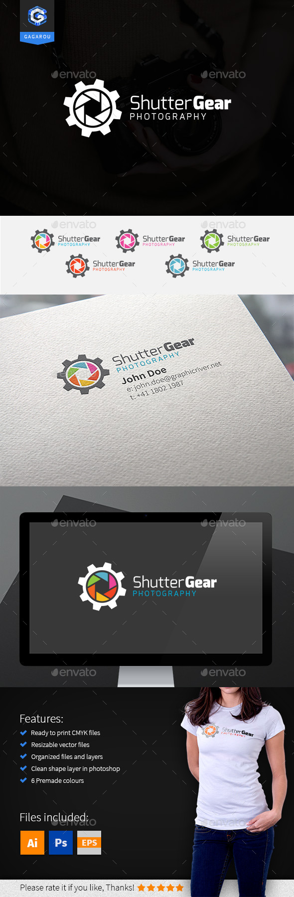 Shutter Gear Logo - Objects Logo Templates