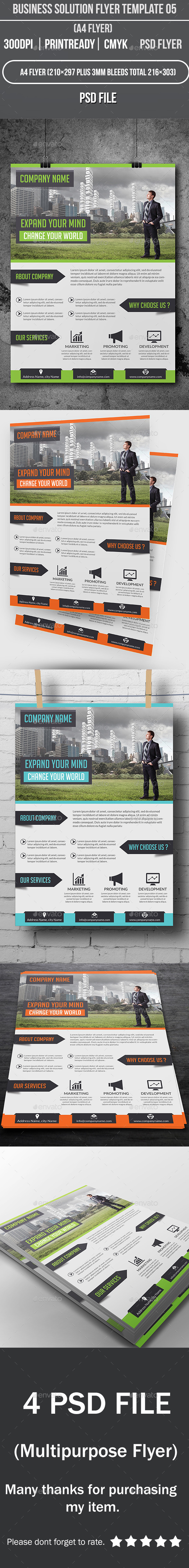 Business Solution Flyer Template 05 - Corporate Flyers