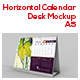Horizontal Calendar Desk Mockup For A5 - GraphicRiver Item for Sale
