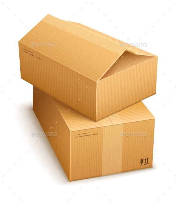 Cardboard Boxes For Mail Delivery - Man-made Objects Objects