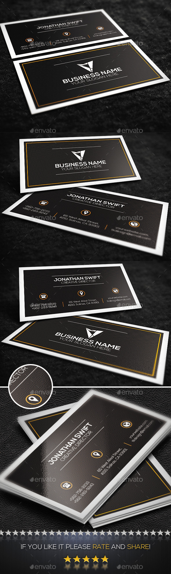 Brown Corporate Business Card - Corporate Business Cards