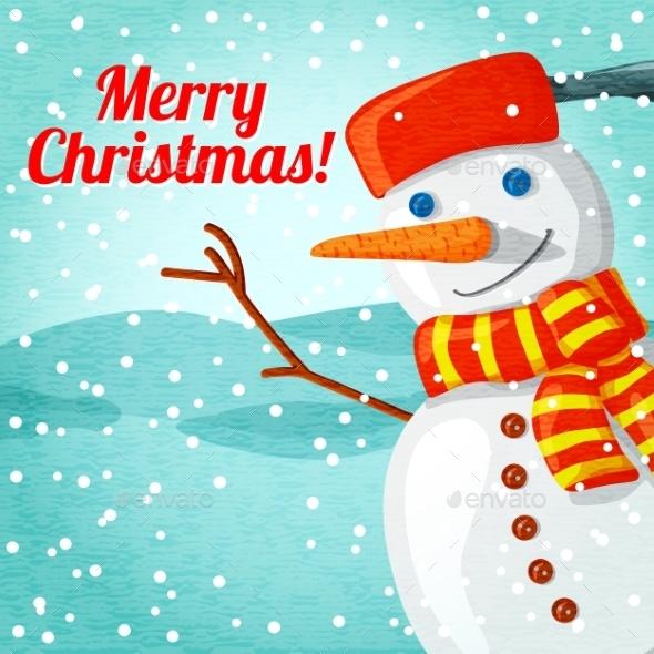 Snowman Christmas Greeting Card - Christmas Seasons/Holidays
