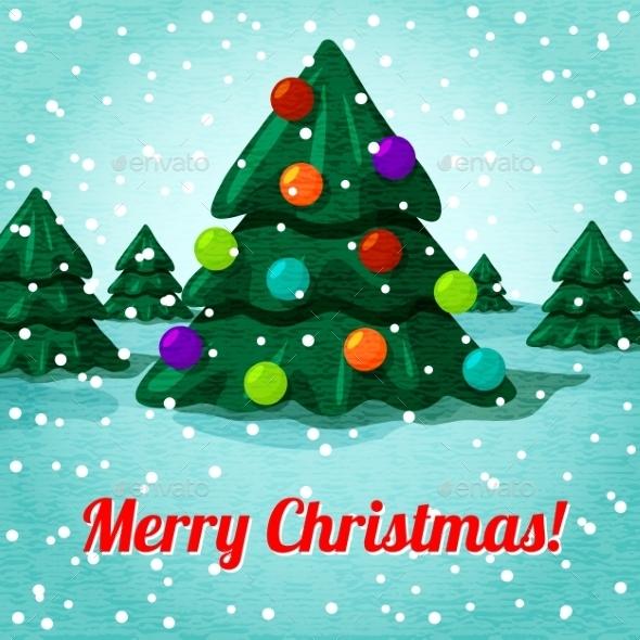 Merry Christmas greeting card with cute christmas  - Christmas Seasons/Holidays