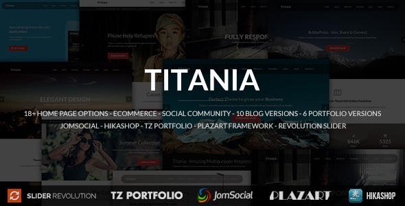 Titania - Responsive Multipurpose Joomla Template