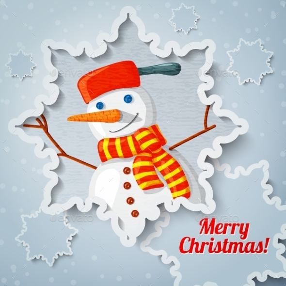 Snowman Christmas Greeting Card - Christmas Seasons/Holidays
