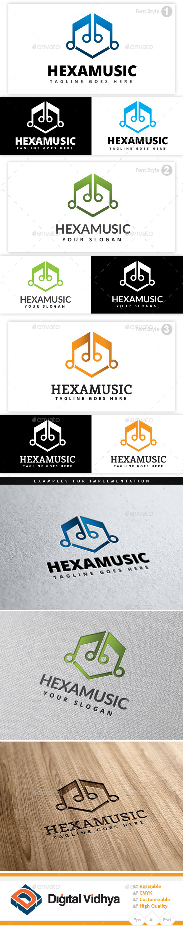 Musical Hexagon Logo