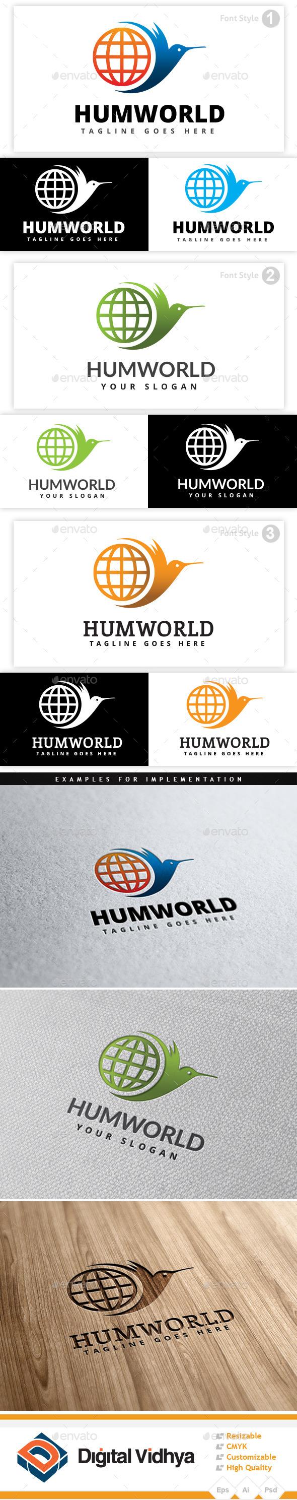 Hummingbird World Logo - Symbols Logo Templates
