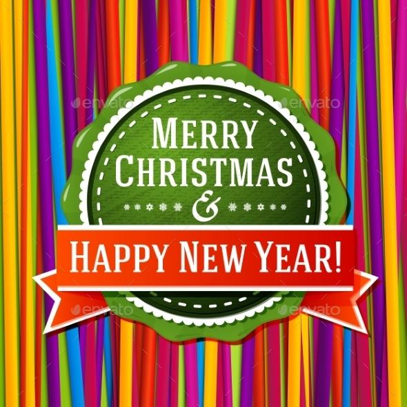 Christmas and New Years Label - Christmas Seasons/Holidays