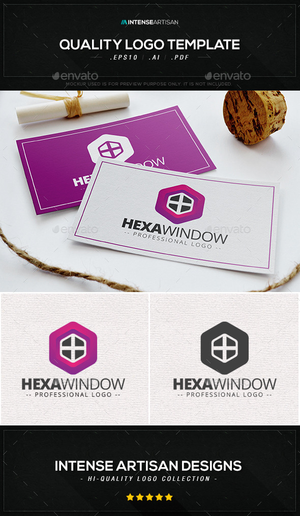 Hexa Window Logo Template  - Objects Logo Templates