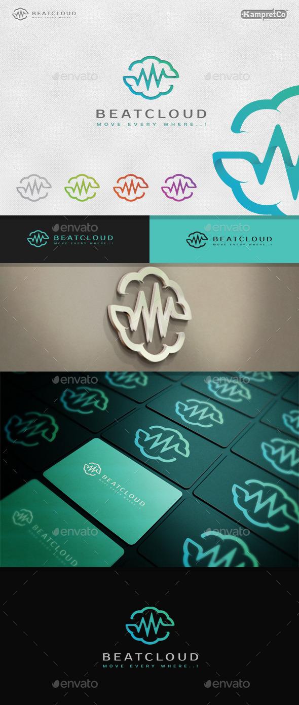 Beat Cloud Logo - 3d Abstract