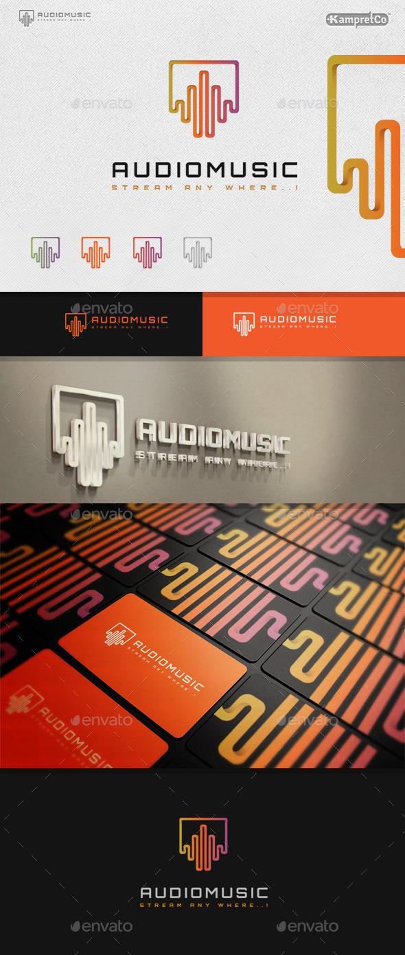 Audio Music Logo - 3d Abstract