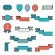 Set of Ribbons in Flat Line Style Vector - GraphicRiver Item for Sale