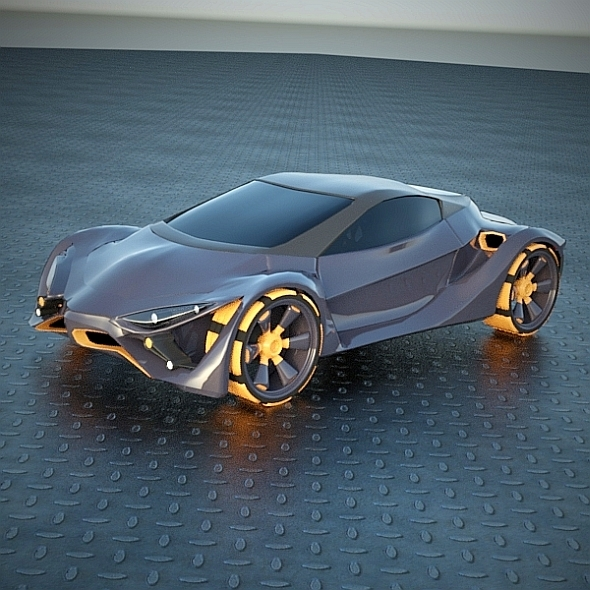 E futuron futuristic concept car - 3DOcean Item for Sale