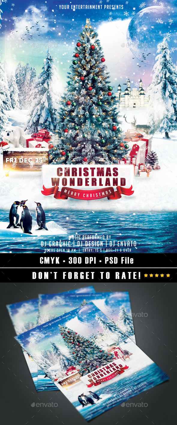 Christmas Wonderland Flyer - Events Flyers