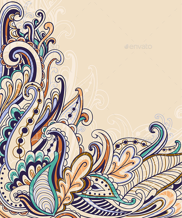Decorative Abstract Floral Background  - Backgrounds Decorative