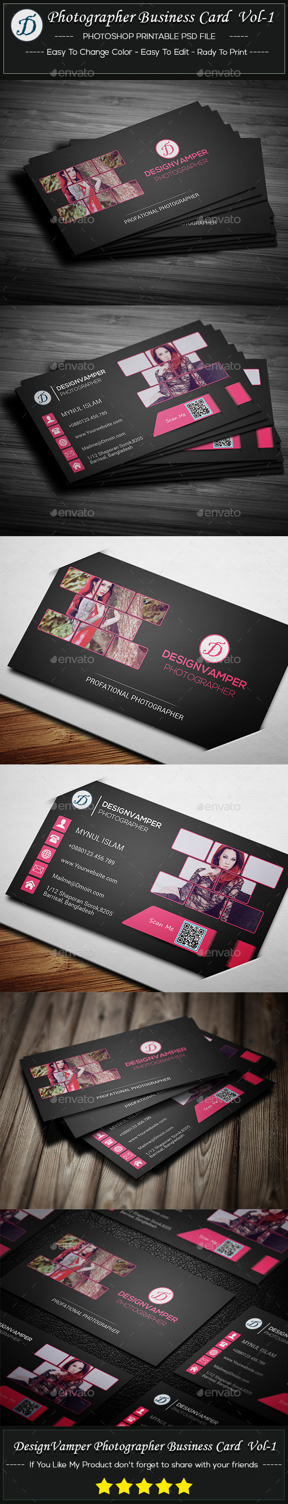 Photographer Business Card Vol-1 - Creative Business Cards