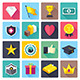 Awards and Achievements Flat Icons - GraphicRiver Item for Sale