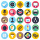 Brainstorming and Leadership Flat Icons - GraphicRiver Item for Sale