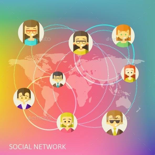 Social Media Circles - Web Technology
