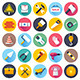 Construction Tools Flat Icons - GraphicRiver Item for Sale