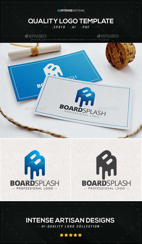 Board Splash Logo Template - Letters Logo Templates