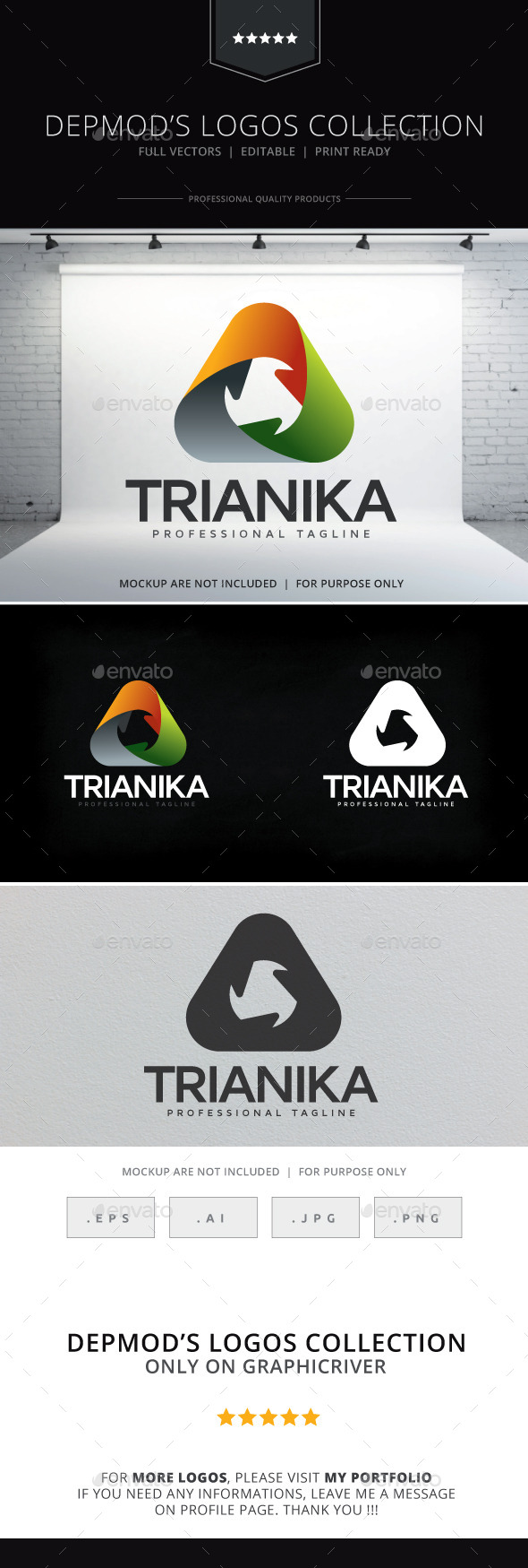 Trianika Logo - Abstract Logo Templates