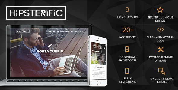 Hipsterific – Responsive Multi-Purpose WP Theme