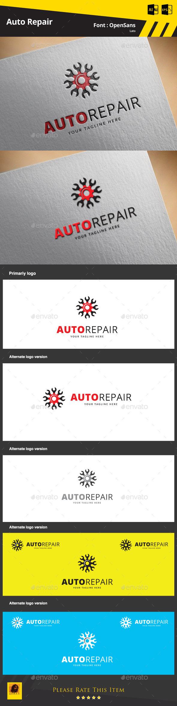 Auto Repair - Symbols Logo Templates