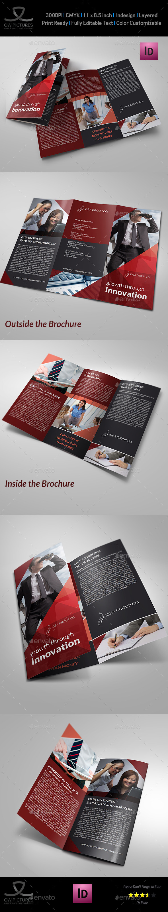 Corporate Business Tri-Fold Brochure Vol.17 - Corporate Brochures