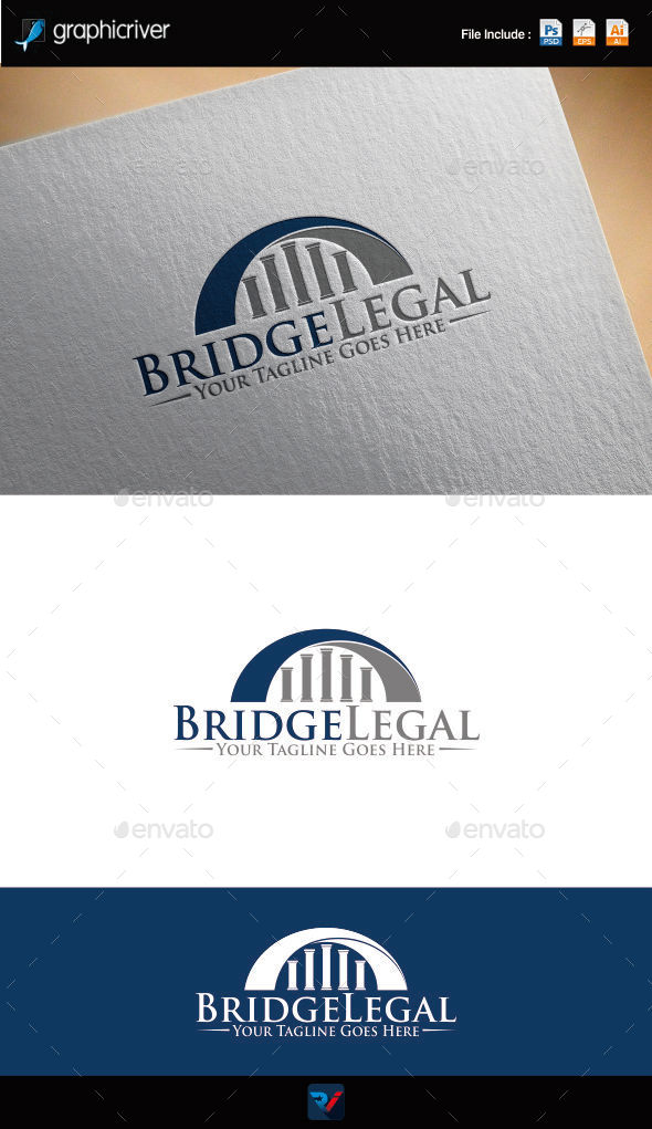 Bridge Legal Logo - Symbols Logo Templates