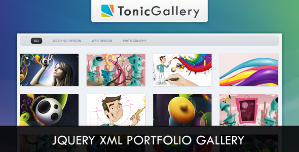 Tonic Gallery - jQuery XML Portfolio Gallery - CodeCanyon Item for Sale