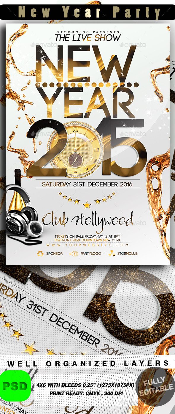 New Year Party - Events Flyers