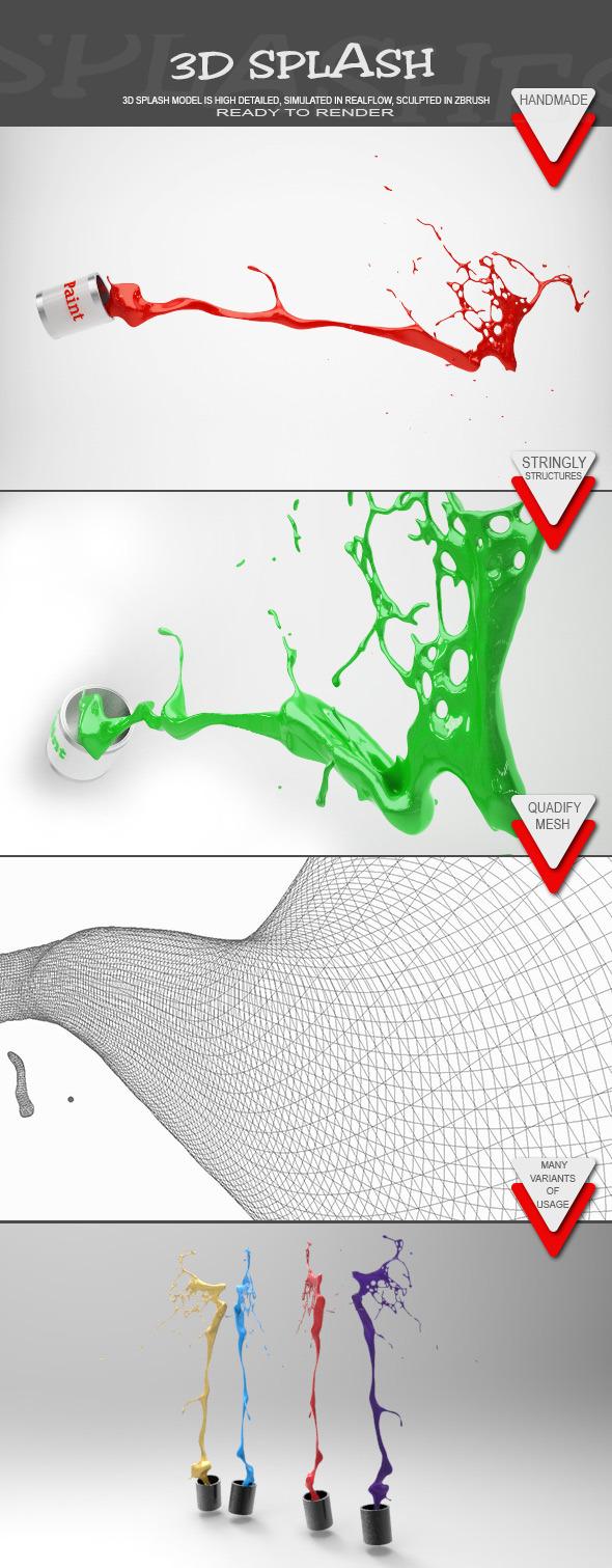 HD Water Paint Liquid Splash 10 - 3DOcean Item for Sale