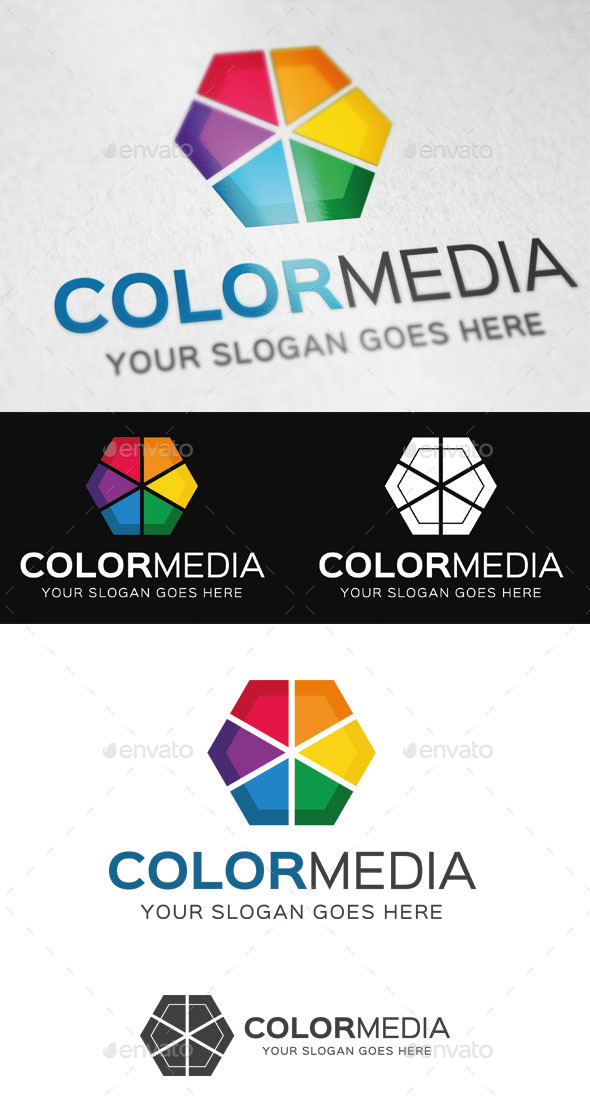 Color Media Logo Template - Abstract Logo Templates